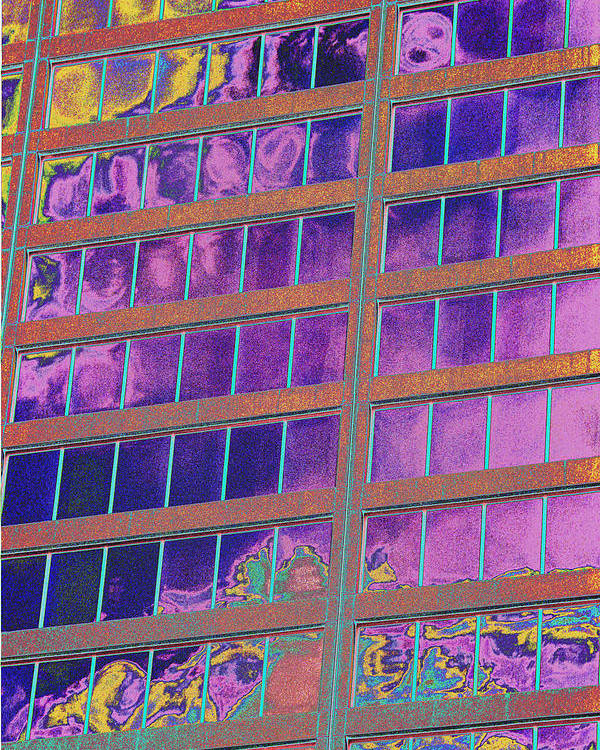 Psychedelic Poster featuring the photograph High Roller Suites At The Flamingo Hotel by Richard Henne