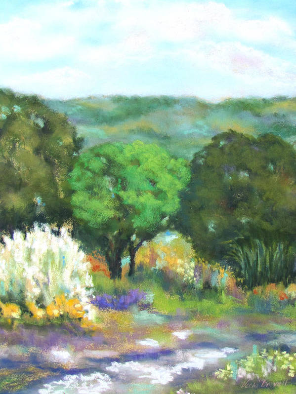 Landscape Poster featuring the painting Hill Country II by Vicki Brevell