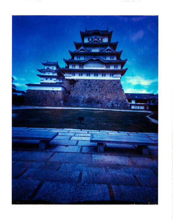 Pinhole Poster featuring the photograph Himeji Castel by Luca Baldassari