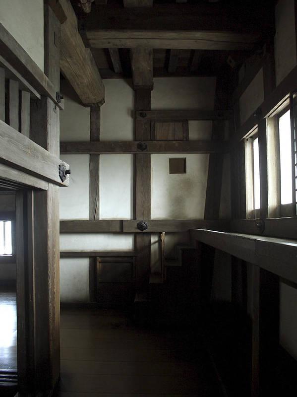 Himeji Medieval Castle Interior Japan Poster