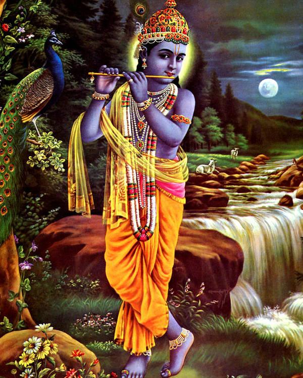 Hindu God Lord Krishna Poster