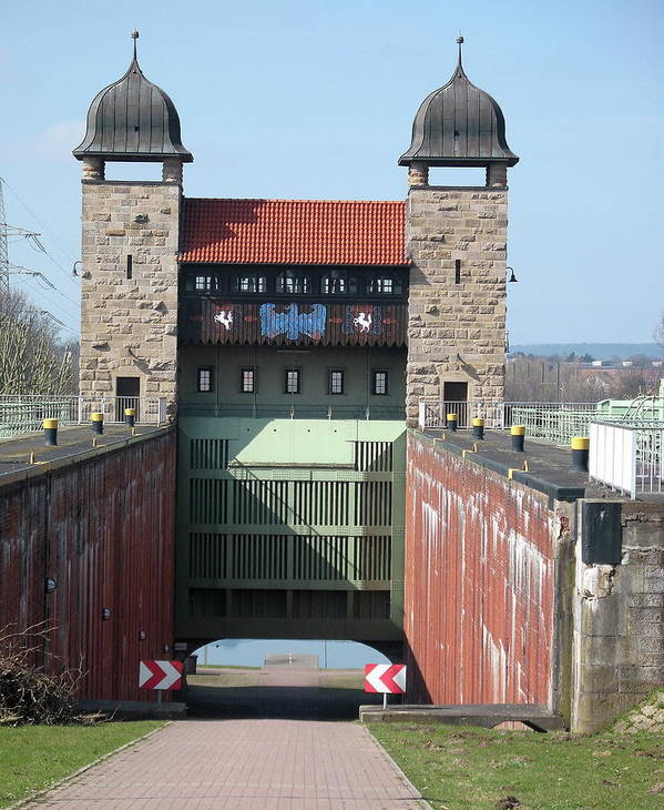 Historic Lift Lock Poster featuring the photograph Historic Lift Lock by Christiane Schulze Art And Photography
