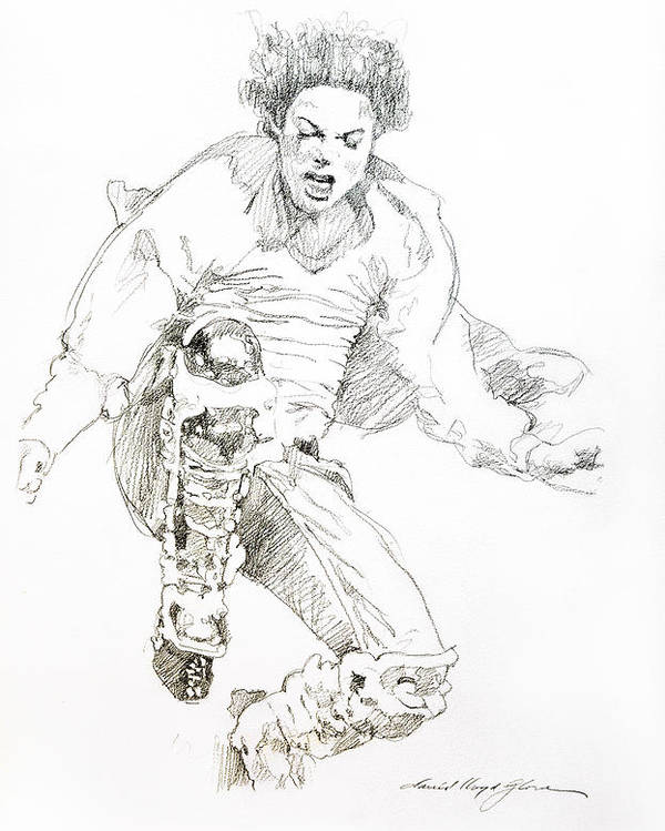 Michael Jackson Poster featuring the drawing HiStory Concert - Michael Jackson by David Lloyd Glover