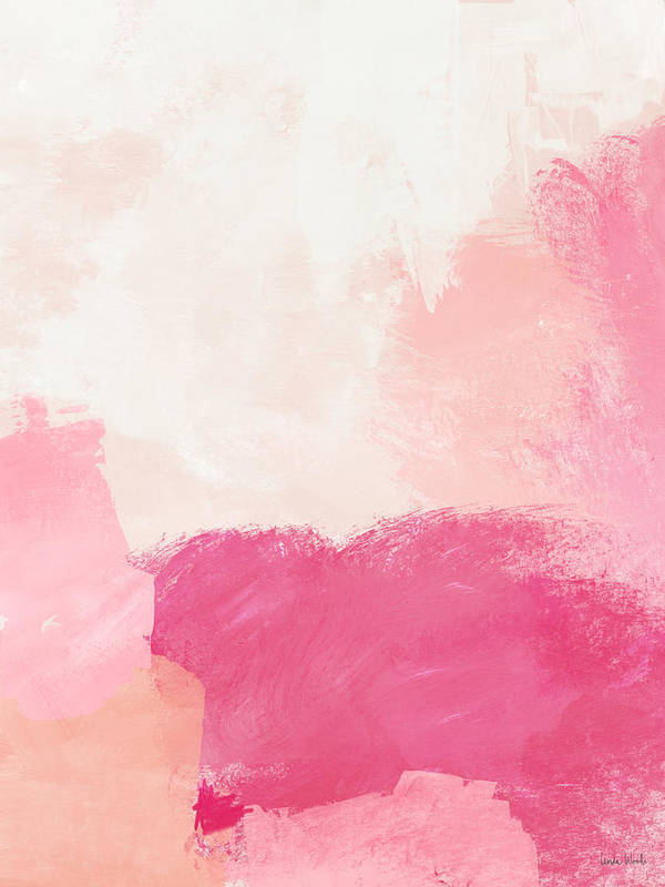 Abstract Poster featuring the mixed media History Of Pink- Abstract Art By Linda Woods by Linda Woods