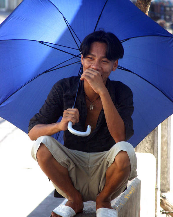 Photographer Poster featuring the photograph Hiya Brolly by Jez C Self