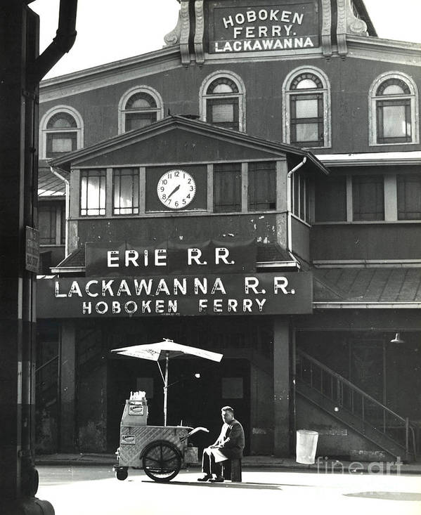 Erik Poster featuring the photograph Hoboken Ferry C1966 by Erik Falkensteen