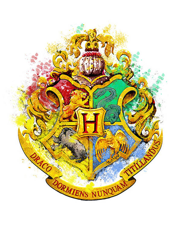 Hogwarts Crest Harry Potter Hogwarts Castle Paint Harry Potter Art Poster featuring the digital art Hogwarts Crest by Midex Planet