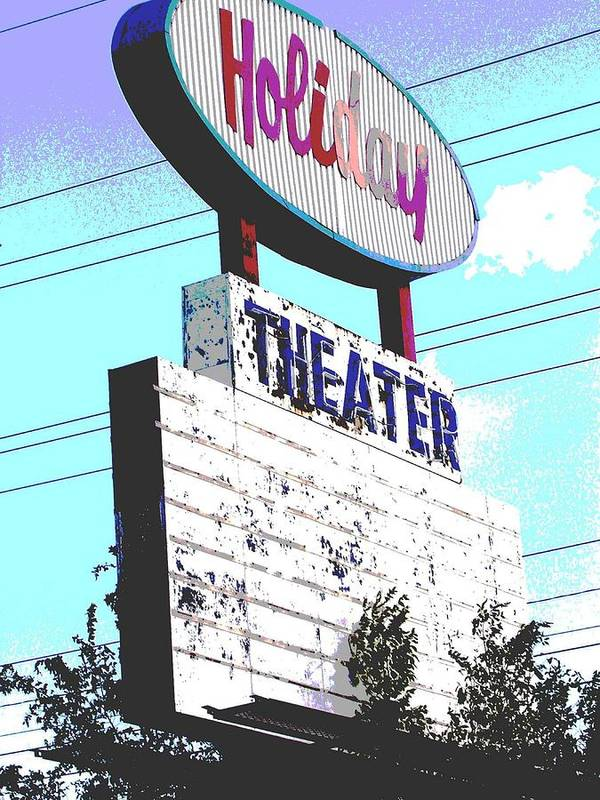 Theater Poster featuring the photograph Holiday Drive In by Audrey Venute