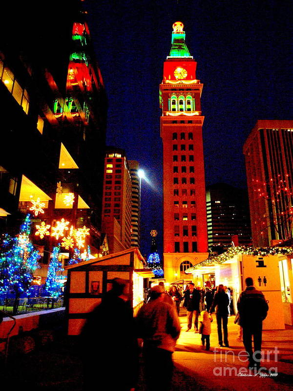 Denver Poster featuring the photograph Holiday Reflections by Christine Zipps