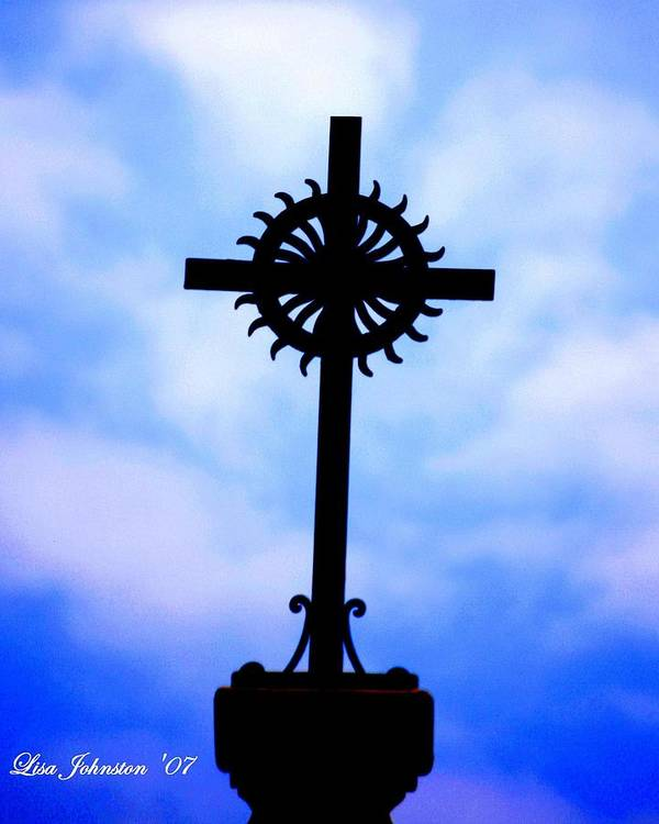 Cross Poster featuring the photograph Holy Cross Catholic Church by Lisa Johnston