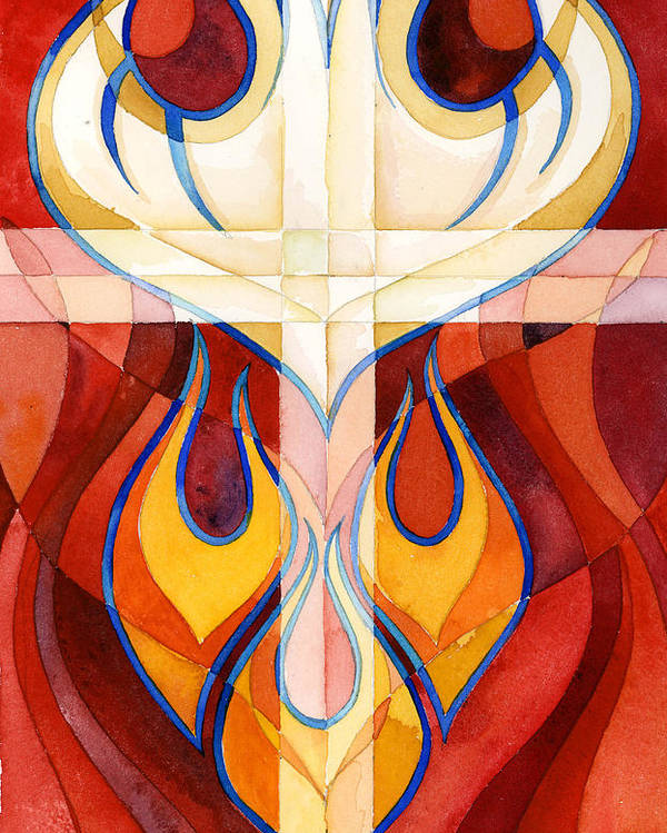 Flames Poster featuring the painting Holy Spirit by Mark Jennings