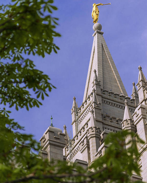 Mormon Poster featuring the photograph Holy Temple by Chad Dutson