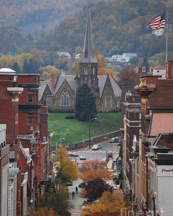 Cumberland Poster featuring the photograph My Hometown Cumberland, Maryland by Eric Liller