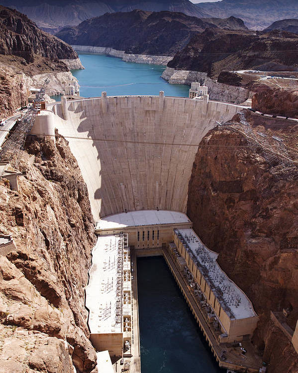 Hoover Poster featuring the photograph Hoover Dam II by Ricky Barnard