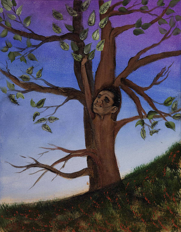 Trees Poster featuring the painting Hope by Julia Ellis