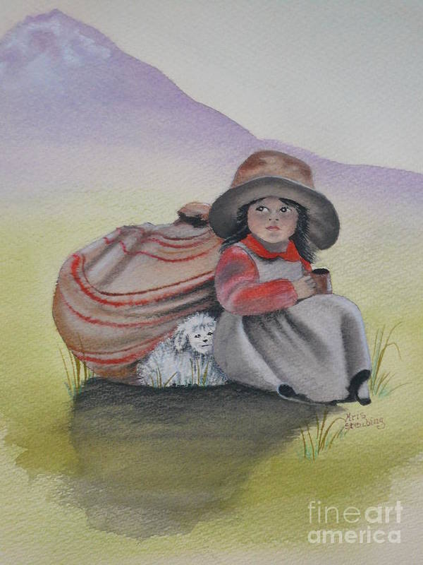Children Poster featuring the painting Hope by Kris Crollard