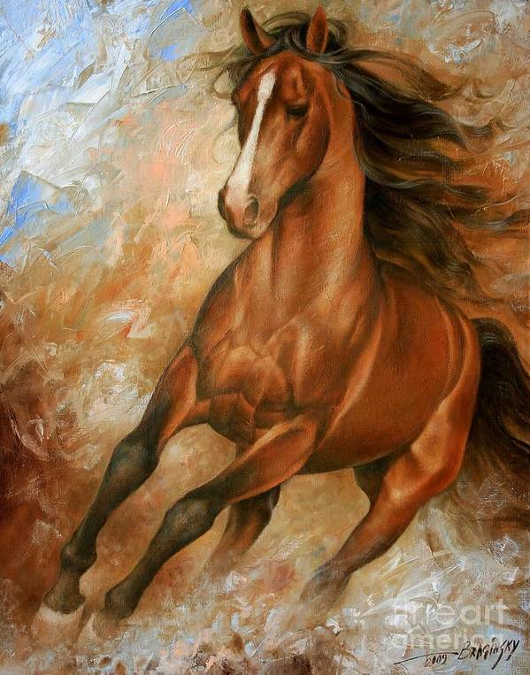 Horse Poster featuring the painting Horse1 by Arthur Braginsky