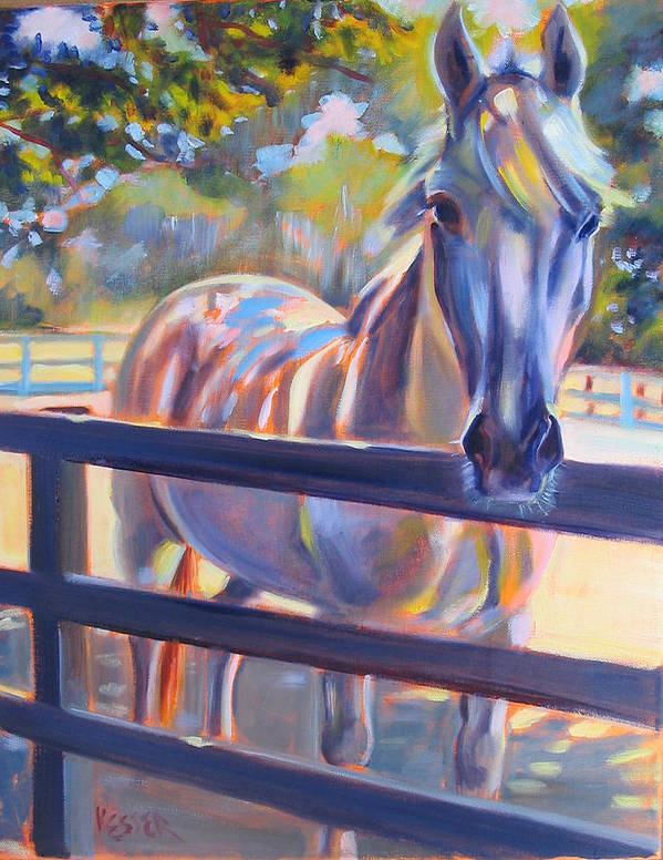 Horse Poster featuring the painting Hot And Humid by Kaytee Esser