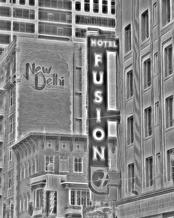 Hotel Poster featuring the photograph Hotel Fusion by Michael Moriarty