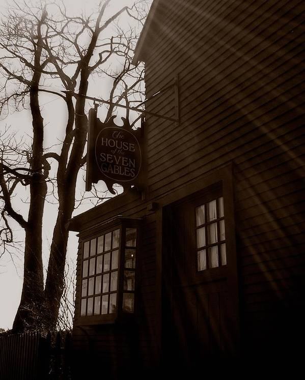 Salem Poster featuring the photograph House Of Seven Gables by Heather Weikel