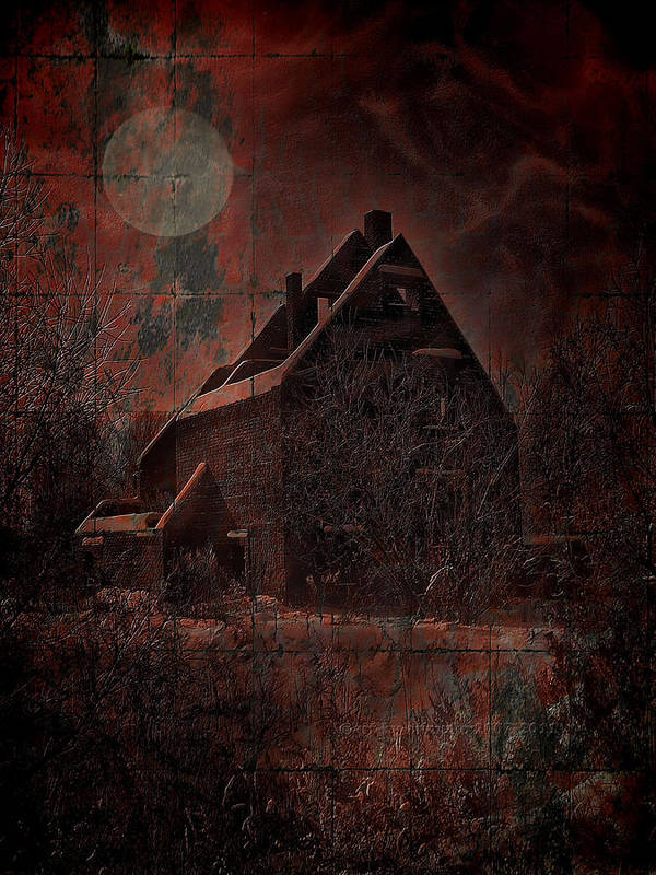 House Poster featuring the digital art House With A Story To Tell by Mimulux patricia no No