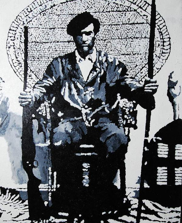 Black Panther Poster featuring the painting Huey Newton Minister Of Defense Black Panther Party by Lauren Luna