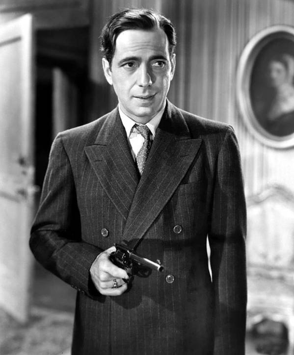 Humphrey Bogart As As Gangster Gloves Donahue All Through The Night 1941 Poster featuring the photograph Humphrey Bogart As As Gangster Gloves Donahue All Through The Night 1941 by David Lee Guss