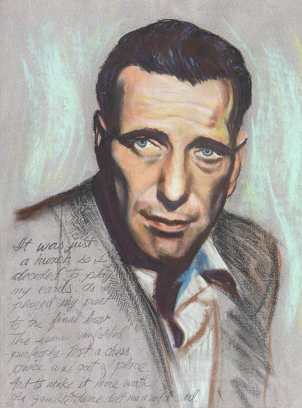 Movie Star Poster featuring the painting Humphrey Bogart Not A Chess Piece Was Out Of Place by Kean Butterfield