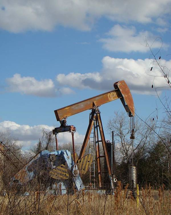 Landscape Poster featuring the photograph Hwy 71 Oil Well by Ana Villaronga