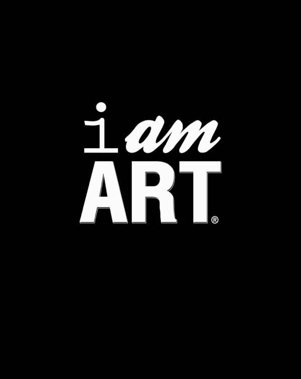 Art Poster featuring the digital art I AM ART- Shirt by Linda Woods