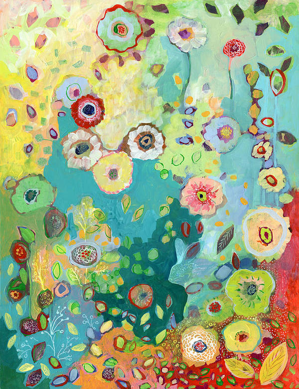 Floral Poster featuring the painting I Am by Jennifer Lommers