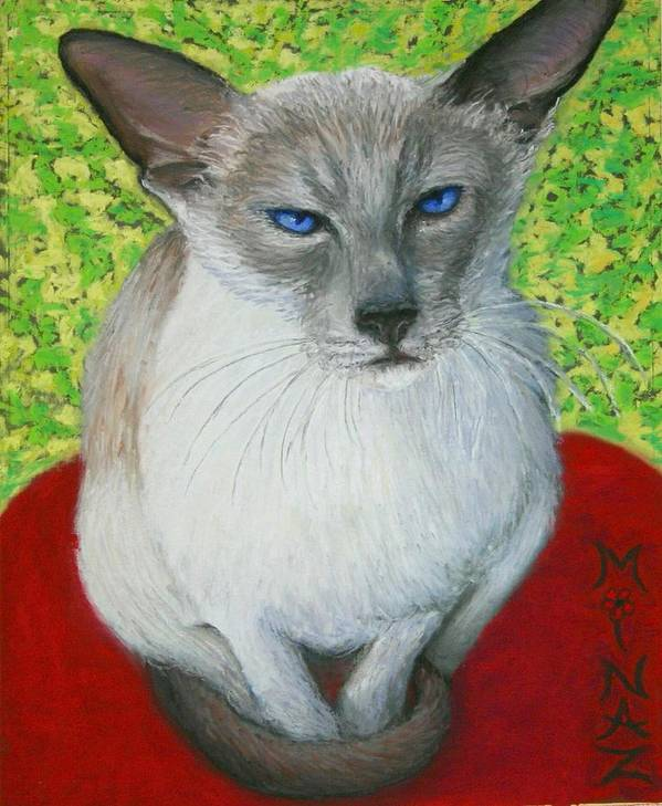 Siamese Poster featuring the painting I Am Siamese If You Please by Minaz Jantz