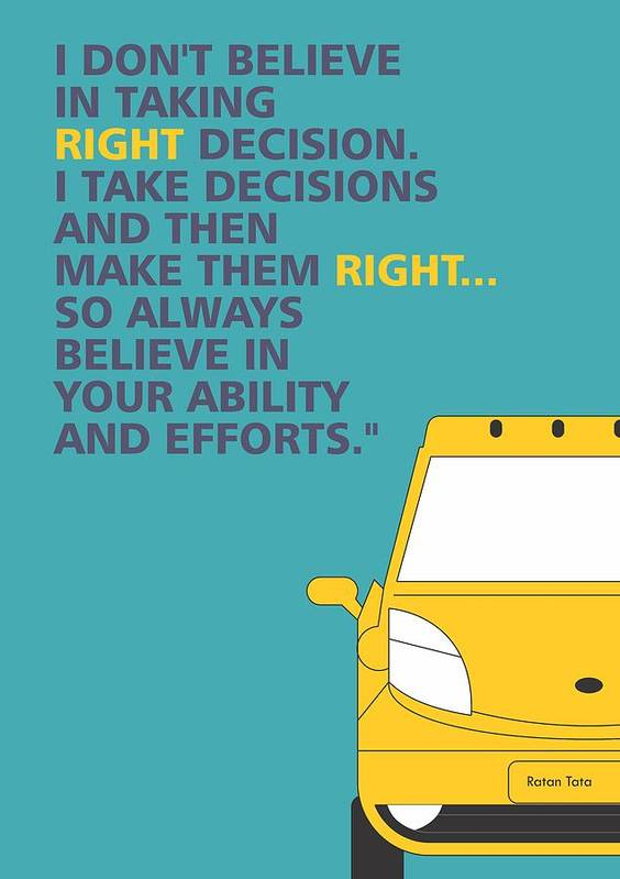 I Dont Believe In Taking Right Decision Quotes Poster Poster By Lab No 4
