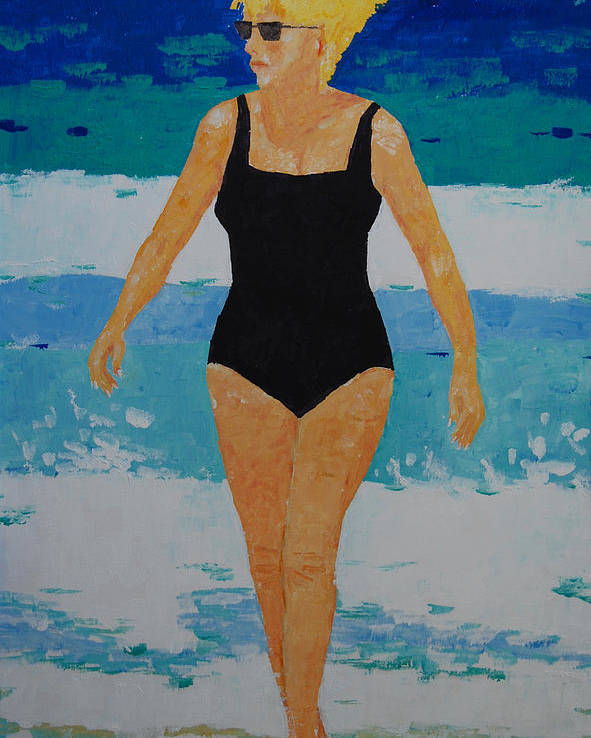 Beach Art Poster featuring the painting I Got A Woman by Art Mantia
