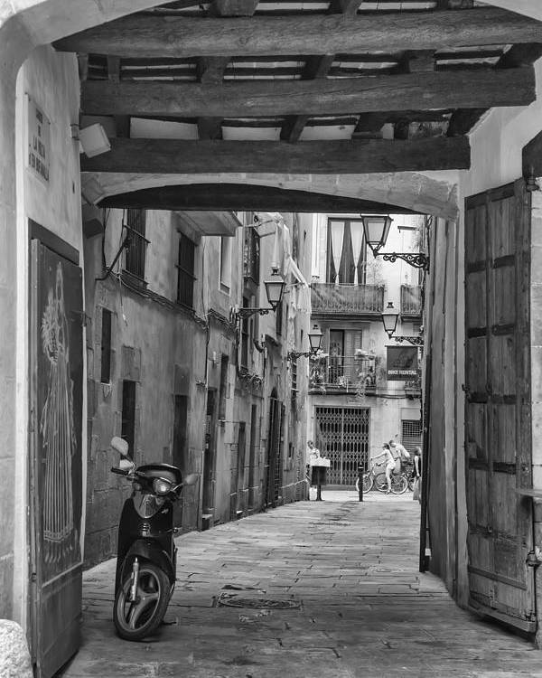 Barcelona Poster featuring the photograph Barcelona Alleys by Georgia Fowler