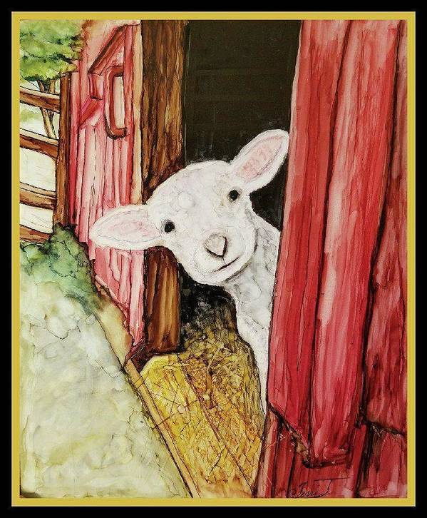 Lamb Poster featuring the painting I See Ewe Little Lamb by Terri Jarandson