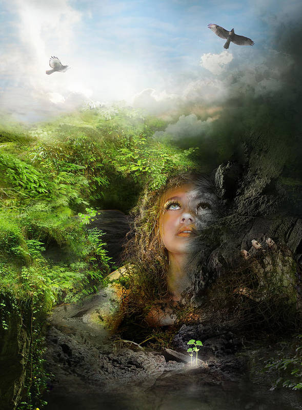 Depression Poster featuring the digital art I Will Break Free by Mary Hood