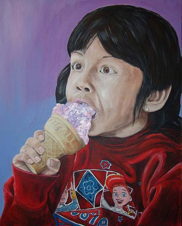 Kevin Callahan Poster featuring the painting Ice Cream by Kevin Callahan