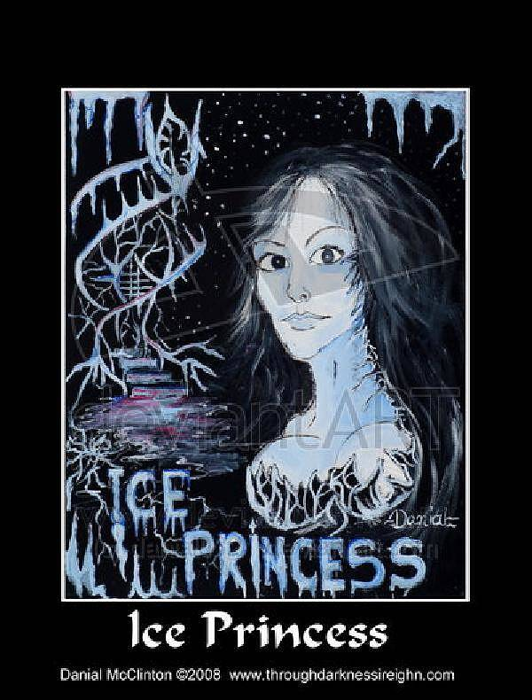 Fantasy Poster featuring the painting Ice Princess by Danial Mcclinton