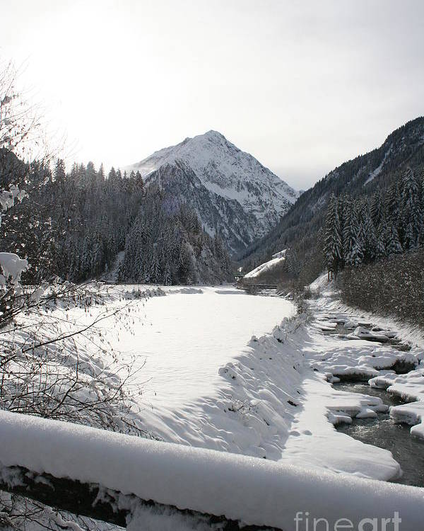 River Poster featuring the photograph Iced River by Christiane Schulze Art And Photography