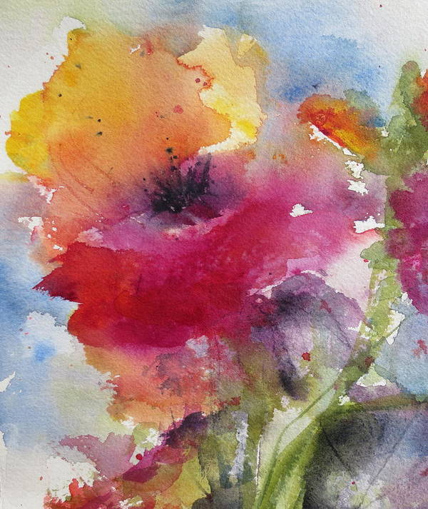 Poppy Poster featuring the painting Iceland Poppy by Anne Duke