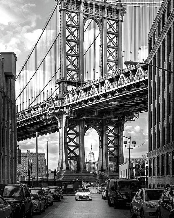 New York City Poster featuring the photograph Iconic Manhattan Bw by Az Jackson