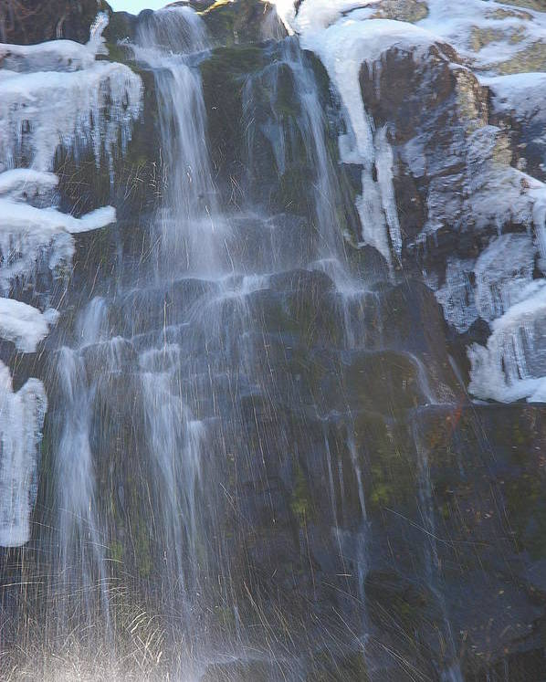 Waterfalls Poster featuring the photograph Icy Falls by Cynthia Cox Cottam