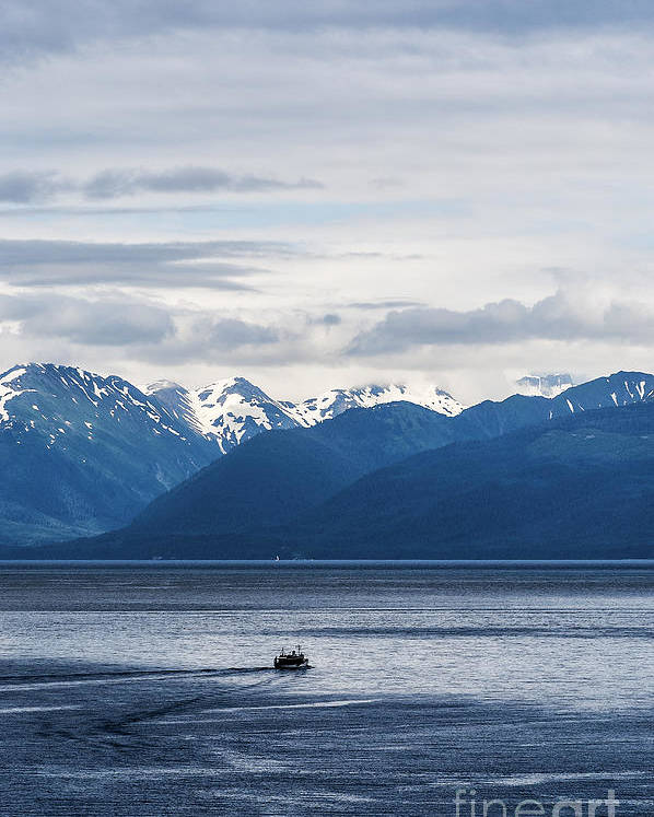 Alaska Poster featuring the photograph Icy Strait Fishing by John Greim