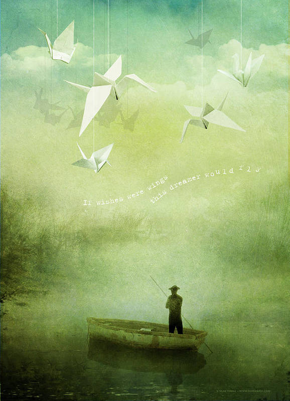 Wishes Poster featuring the digital art If Wishes Were Wings by Silas Toball