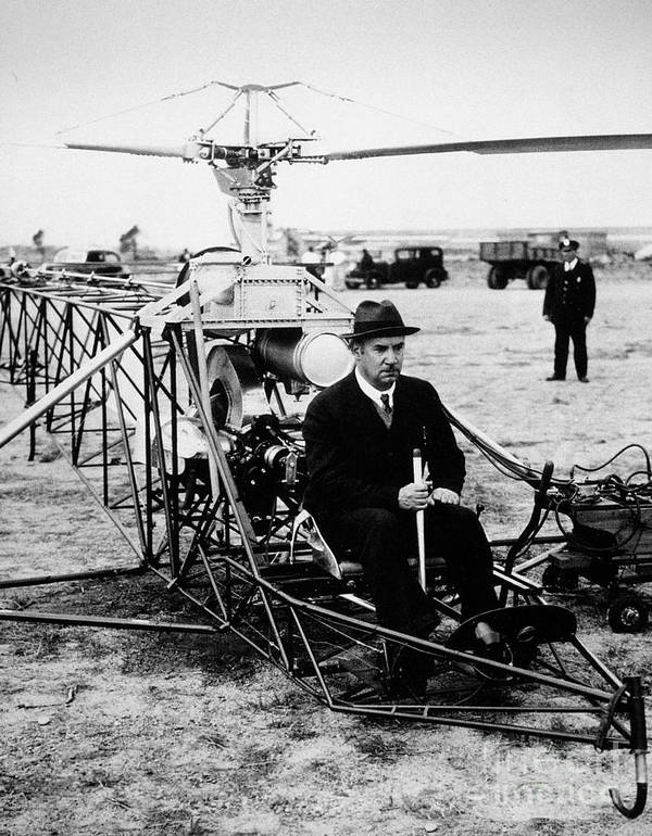 1940 Poster featuring the photograph Igor Ivan Sikorsky by Granger