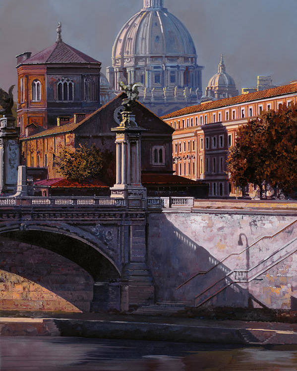 Rome Poster featuring the painting Il Cupolone by Guido Borelli