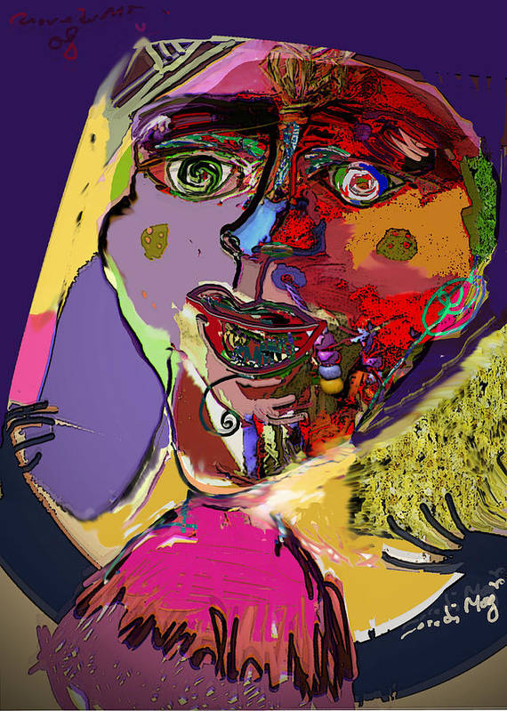 Mask Poster featuring the painting I'm Not What You Think I'm by Noredin Morgan