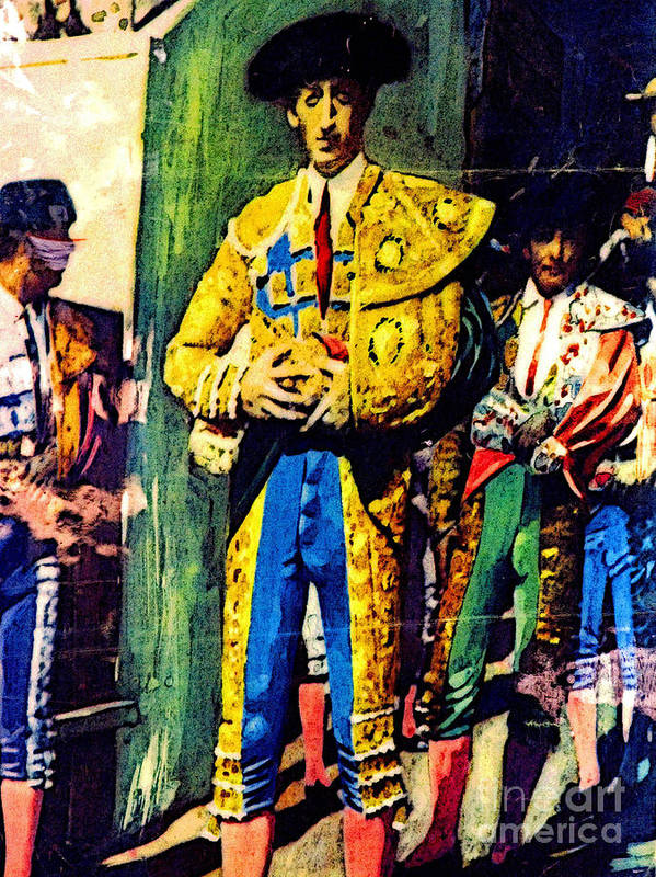 Bullfighter Poster featuring the photograph Immortalized by Mexicolors Art Photography
