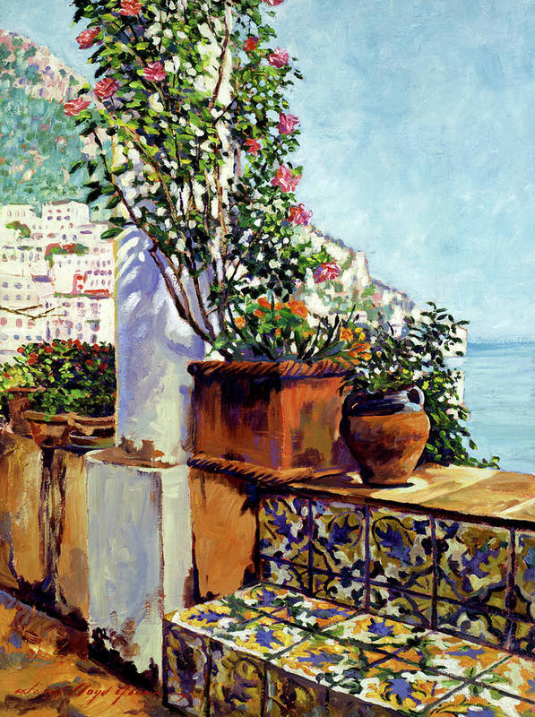 Riviera Poster featuring the painting Impressions Of The Riviera by David Lloyd Glover